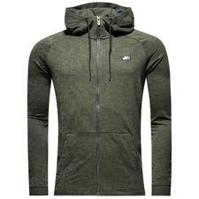 nike hoodie fz nsw modern ft - sequoia - hoodies