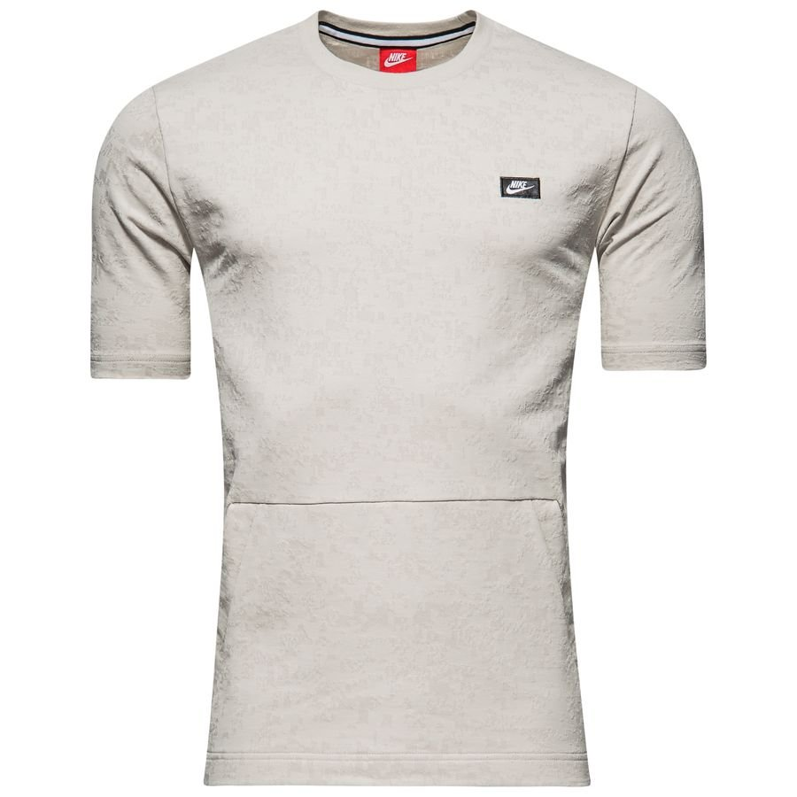 Nike NSW Modern Crew Tee NEW men 886238-072 light bone white black