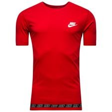 nike t-shirt nsw advance 15 - rød/hvid - t-shirts