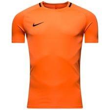 nike trænings t-shirt dry academy - orange/sort - træningstrøjer
