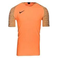 nike trænings t-shirt strike 2.0 vaporknit fast af - orange/sort - træningstrøjer