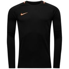 nike training shirt academy midlayer crew top fast af - black/cone - training tops