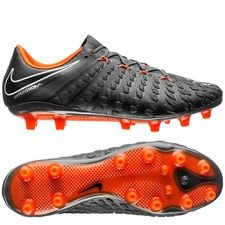 nike hypervenom phantom 3 elite ag-pro fast af - dark grey/total orange/white - football boots