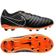 nike tiempo legend 7 academy fg fast af - black/total orange/white kids - football boots