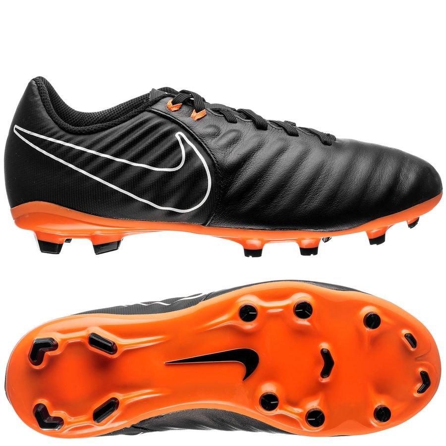 Nike Tiempo Legend 7 Academy FG Fast AF - Sort/Orange/Hvid Børn