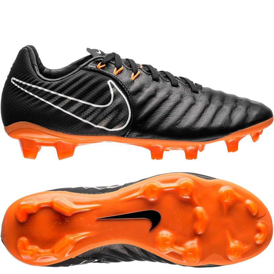 nike tiempo legend 7 elite fg fast af - black/total orange/white kids