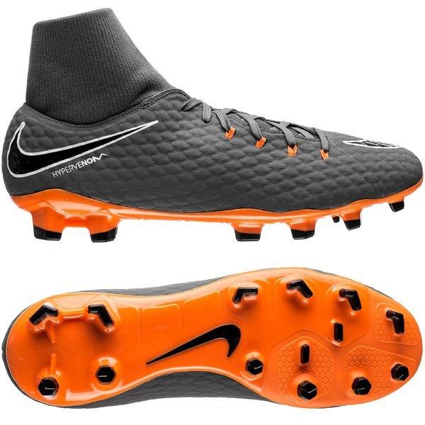 huge discount b4bad a8d05 Nike Hypervenom Phantom 3 Academy DF FG Fast AF - Grå Oransje Hvit 0