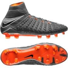 nike hypervenom phantom 3 elite df fg fast af - dark grey/total orange/white - football boots
