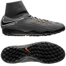 nike hypervenom phantomx 3 academy df tf fast af - dark grey/total orange/white - football boots