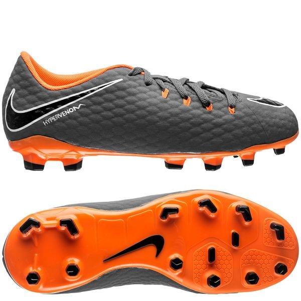 niska cena Nowe zdjęcia wyprzedaż w sklepie wyprzedażowym Nike Hypervenom Phantom 3 Academy FG Fast AF - Dark Grey/Total Orange/White  Kids