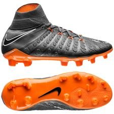Nike Hypervenom Phantom 3 Elite DF FG Fast AF - Grå/Orange/Vit Barn