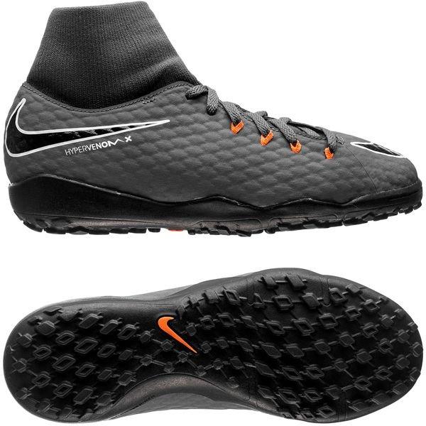 Nike JR PhantomX Hypervenom 3 Academy DF TF Dark Grey Orange White AH7293 081