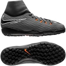 nike hypervenom phantomx 3 academy df tf fast af - dark grey/total orange/white kids - football boots