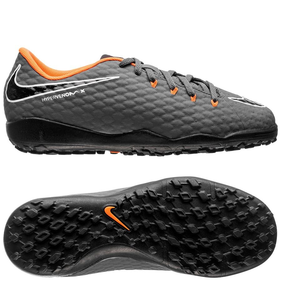 d70af1243d7d Nike Hypervenom PhantomX 3 Academy TF Fast AF - Dark Grey Total  Orange White Kids