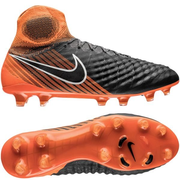 Nike Magista Obra 2 Elite DF FG - Grå/Sort/Orange