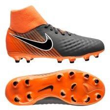nike magista obra 2 academy df fg fast af - dark grey/black/total orange kids - football boots
