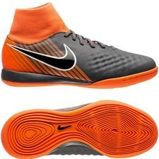 nike magista obrax 2 academy df ic fast af - gris/noir/orange enfant - chaussures indoor