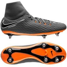 nike hypervenom phantom 3 academy df sg fast af - dark grey/total orange/white - football boots
