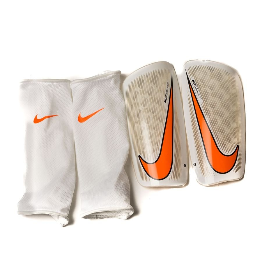Nike Protège-Tibias Mercurial Flylite Guard Fast AF - Blanc/Orange