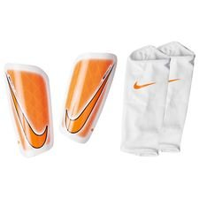 nike shin pads mercurial lite fast af - white/total orange - shin pads