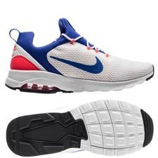 nike air max motion racer - white/ultra marine/solar red - sneakers