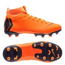 nike mercurial superfly 6 academy mg fast af - total orange/black/volt kids - football boots