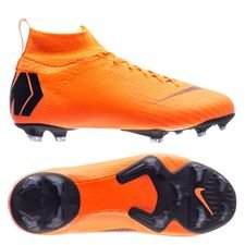 nike mercurial superfly 6 elite fg fast af - total orange/black/volt kids - football boots