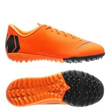 nike mercurial vaporx 12 academy tf fast af - total orange/black/volt kids - football boots