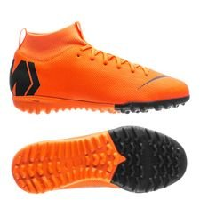 Nike Mercurial SuperflyX 6 Academy TF Fast AF - Orange/Svart/Neon Barn
