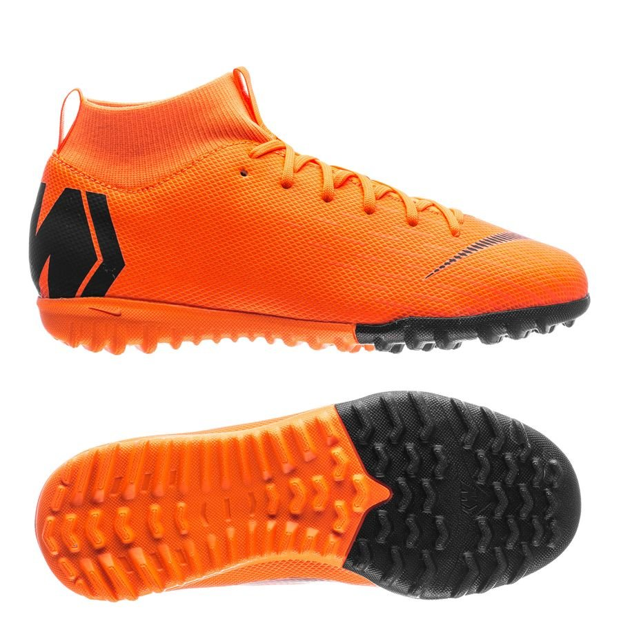 9582e5047a3 nike mercurial superflyx 6 academy tf fast af - total orange black volt  kids ...