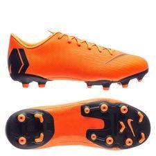 Nike Mercurial Vapor 12 Academy MG Fast AF - Orange/Noir/Jaune Fluo Enfant
