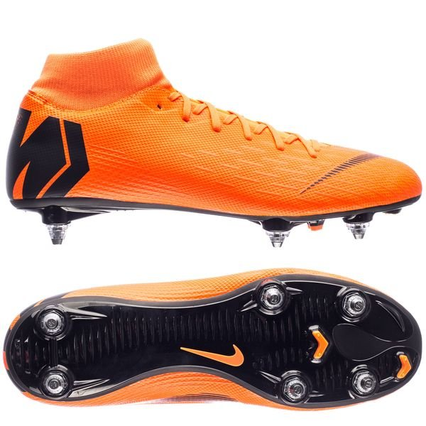nike mercurial superfly 6 academy sg-pro fast af - total orange/black/ ...