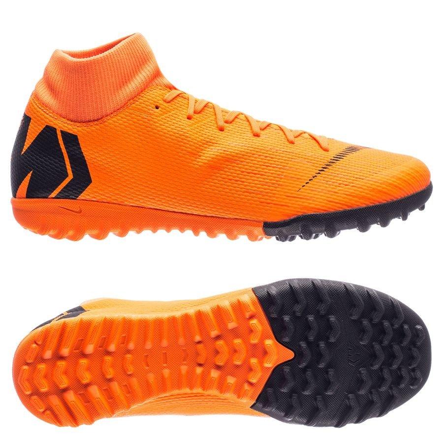 nike mercurial superflyx 6 academy tf fast af - total orange black volt ... 028c9e0b588bd