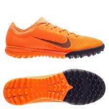 nike mercurial vaporx 12 pro tf fast af - orange/sort/neon - fodboldstøvler