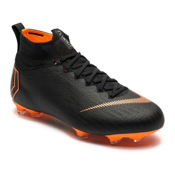 ca280d078 Nike Mercurial Superfly 6 Elite FG - Black Total Orange White Kids ...