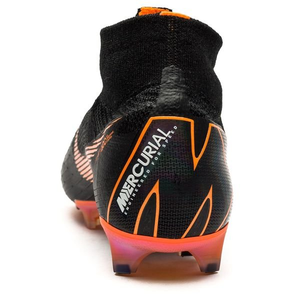 timeless design ea682 7bf27 ... clearance nike mercurial superfly 6 elite fg sort oransje hvit  fotballsko 52f9b b2c85