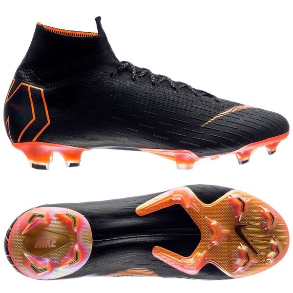 free shipping d449c a4ead Nike Mercurial Superfly 6 Elite FG - Black/Total Orange ...