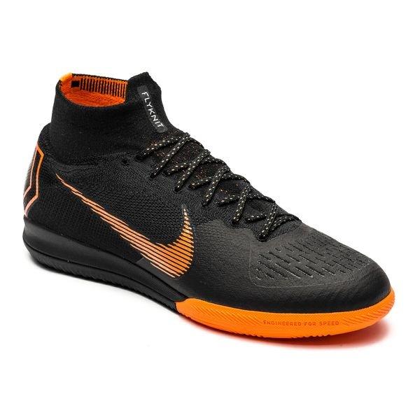 ... nike mercurial superflyx 6 elite ic - black/total orange/white - indoor  shoes ...