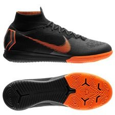 nike mercurial superflyx 6 elite ic - black/total orange/white - indoor shoes