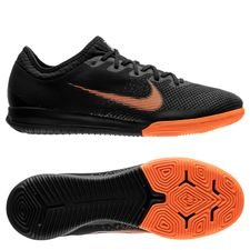 nike mercurial vaporx 12 pro ic fast af - black/total orange/white - indoor shoes