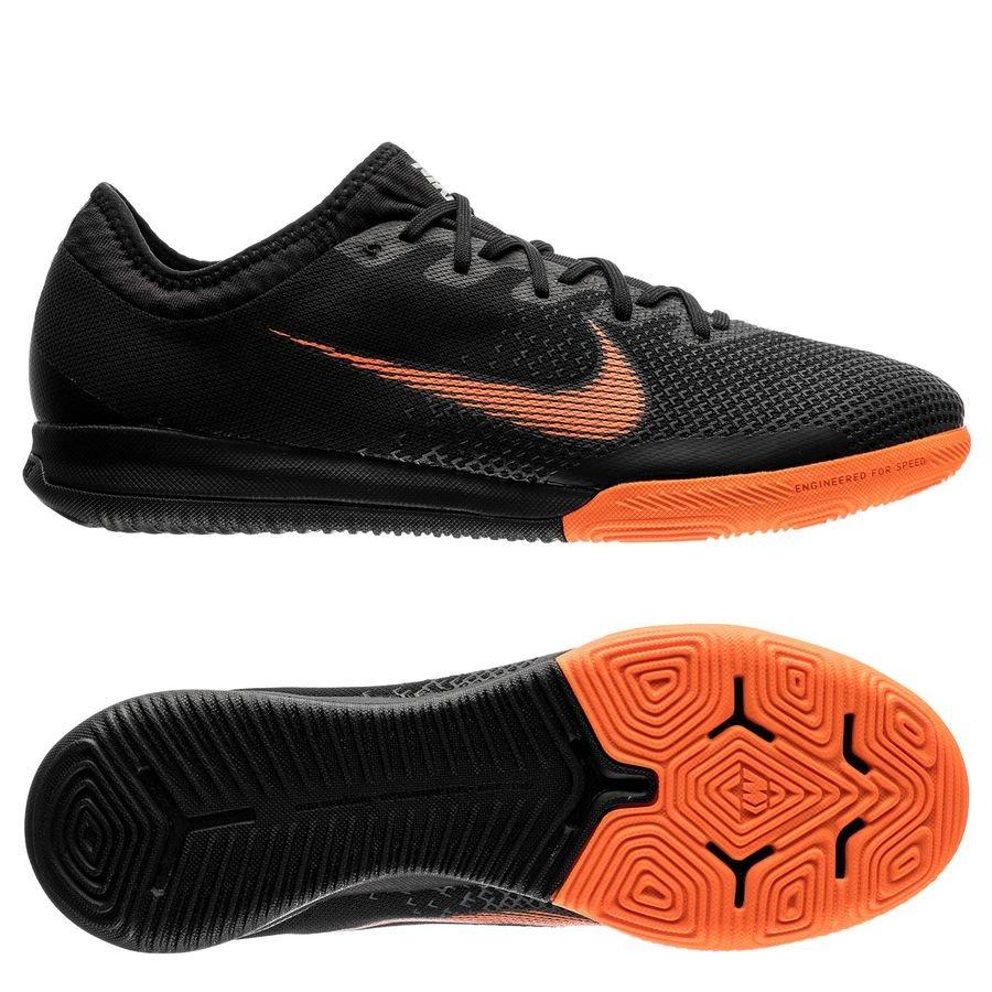 Nike Mercurial VaporX 12 Pro IC Fast AF NoirOrangeBlanc