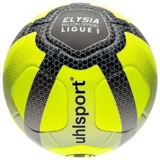uhlsport fodbold elysia ligue 1 2017/18 kampbold - neon/sølv/sort - fodbolde