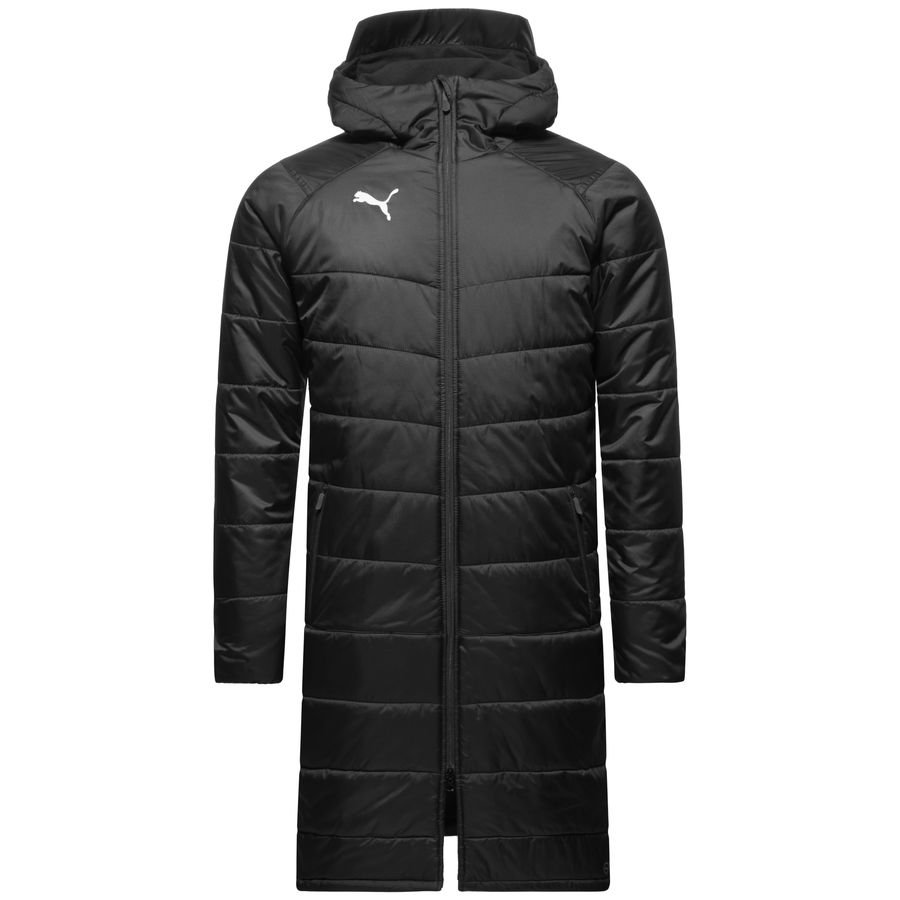 Puma Winter Jacket Liga Sideline Bench Long Black White