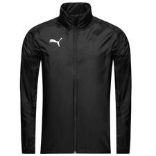 puma rain jacket liga core - puma black/white - rain jackets