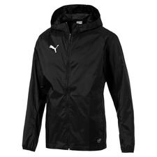 puma rain jacket liga core - black/white kids - rain jackets