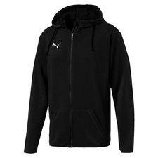 puma hoodie liga casual fz - black/white kids - hoodies