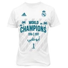 real madrid t-shirt club world cup winner 2016/17 - hvid børn - t-shirts