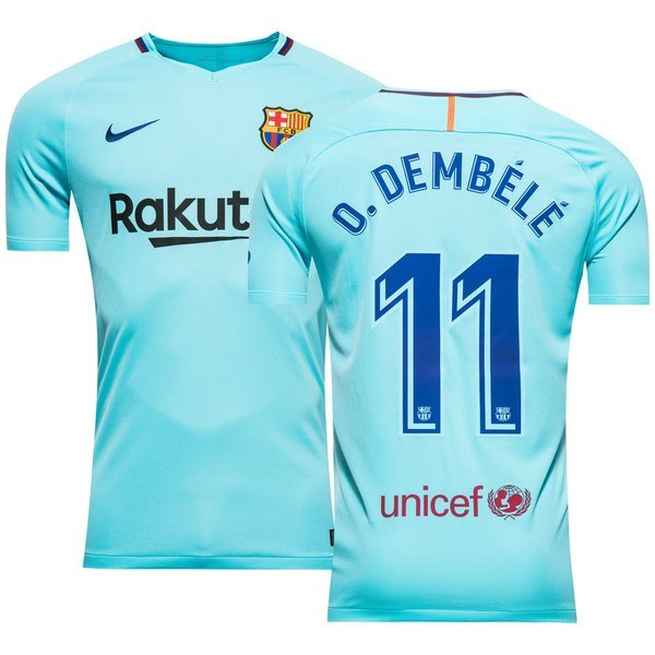 Fc barcelone maillot ext rieur 2017 18 o dembele 11 www Maillot barcelone exterieur 2017