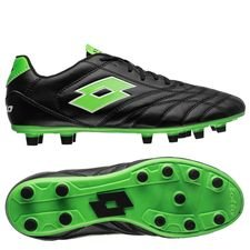 lotto stadio 200 fg - black/mint fluo - football boots