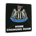 newcastle united 'home changing room' skilt - merchandise